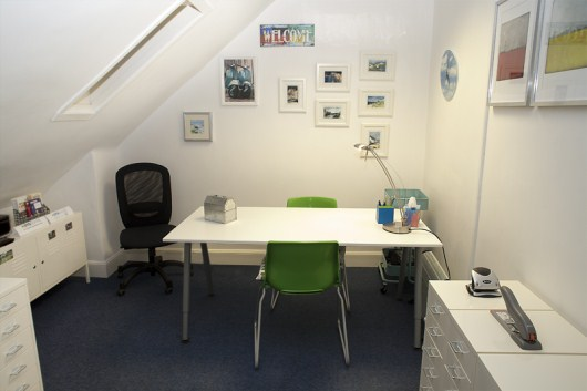 Assessment area in Hanover Street office, Edinburgh